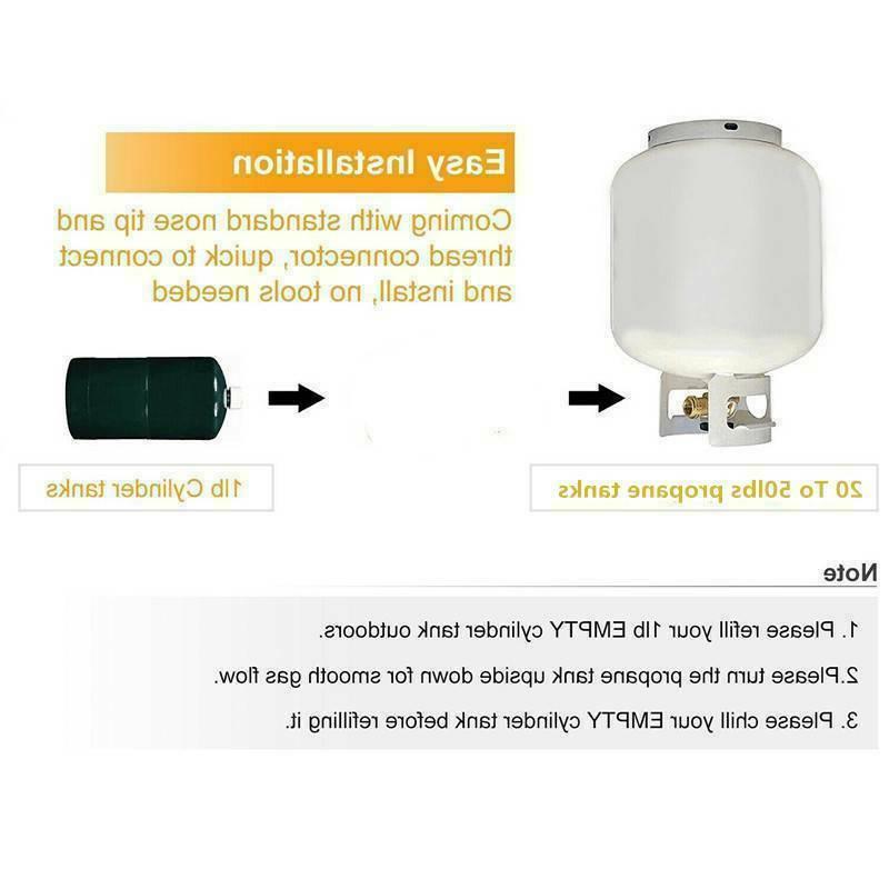 Brass Propane Lp Gas Tank Coupler Heater
