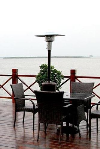 Bronze Heater Propane Standing Gas w/accessorie