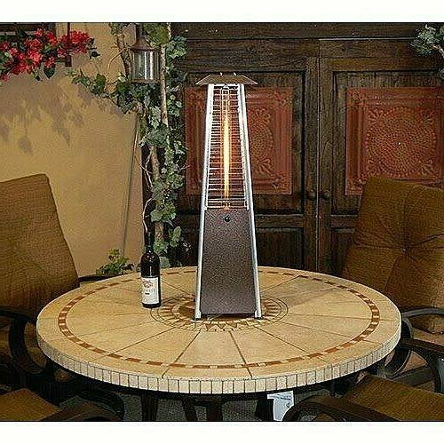 Contemporary Square Design Tabletop Patio Heater - Stainless