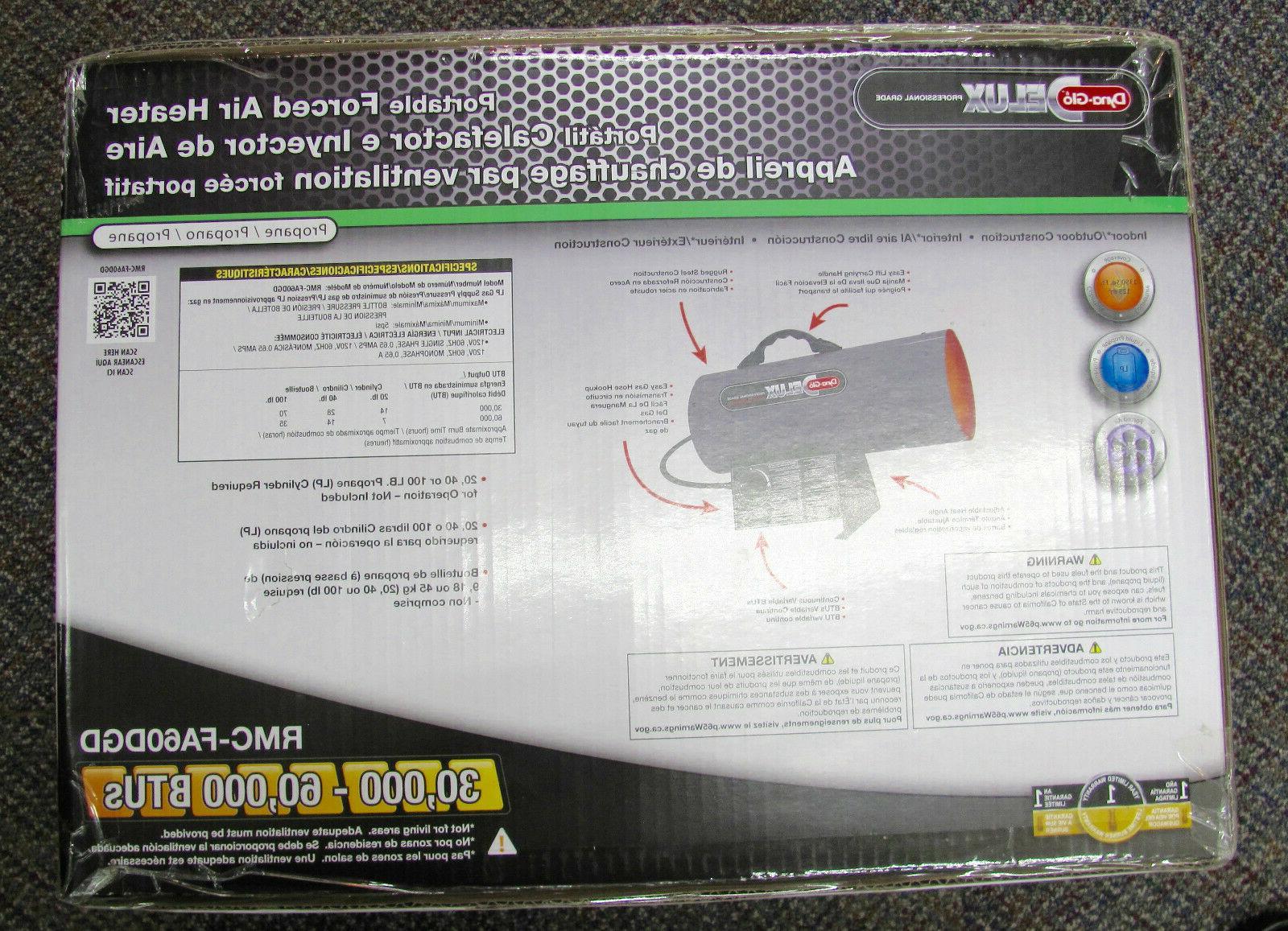 delux btu liquid propane portable