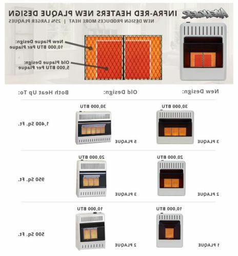 Infrared Heater Natural Propane LP 10,000 BTU
