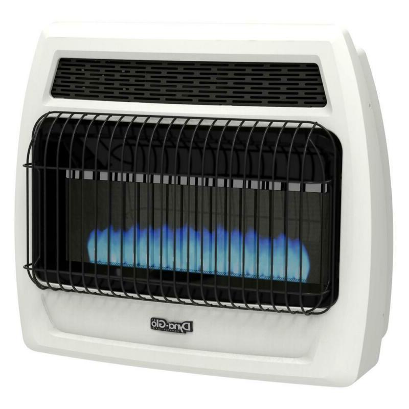 dyna glo thermostatic wall heater blue flame