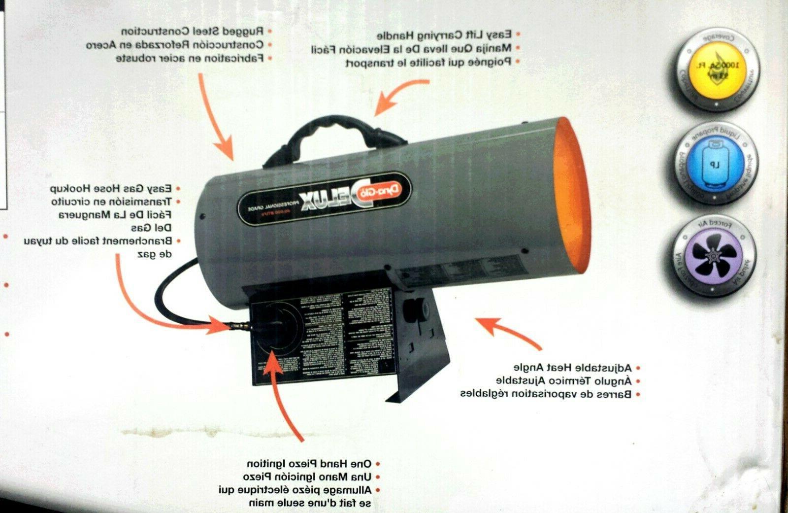 Dyna BTU Propane Gas Air Heater Garage