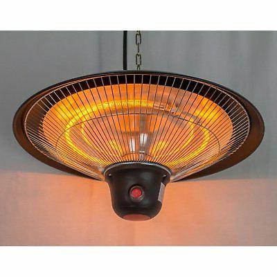Hiland Electric Hanging Gazebo Lamp Patio Heater with Remote