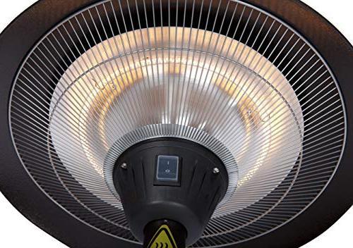 frisco bronze halogen patio heater