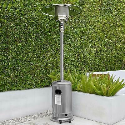 garden outdoor patio heater propane standing stainless