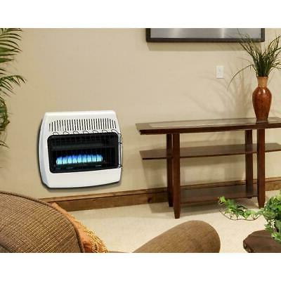 Liquid Propane Gas Wall Heater 30000 BTU Vent Free Blue Home Room