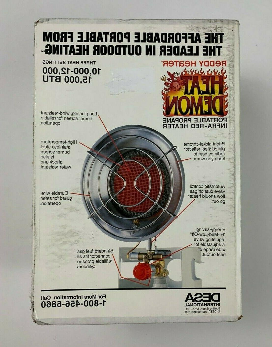 heat demon portable propane infra red tank