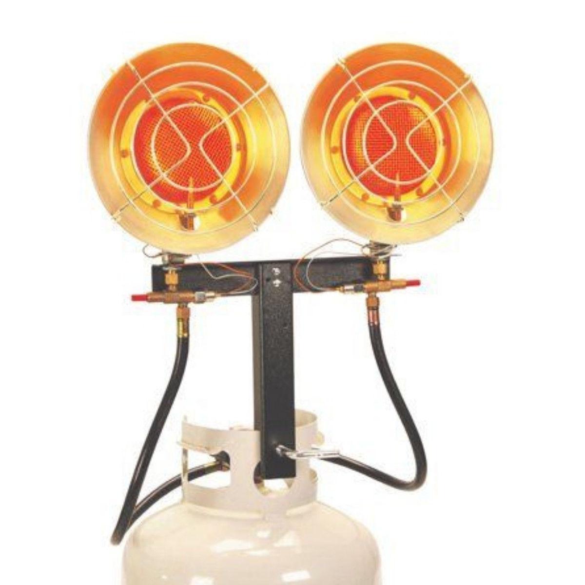 Indoor Outdoor Dual Burner Propane Heater 31600BTU Portable