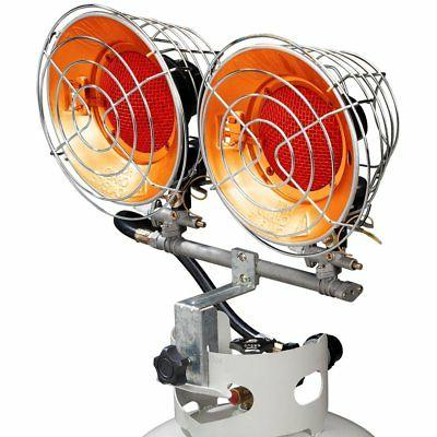infra red tank top propane heater dual