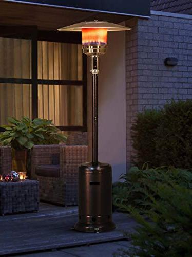 "Sunjoy Lawrence Heater, 88"" Bronze Finished"
