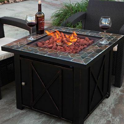 Lpg Gas Fire Table Bowl Cover Pit Outdoor Fireplace Propane