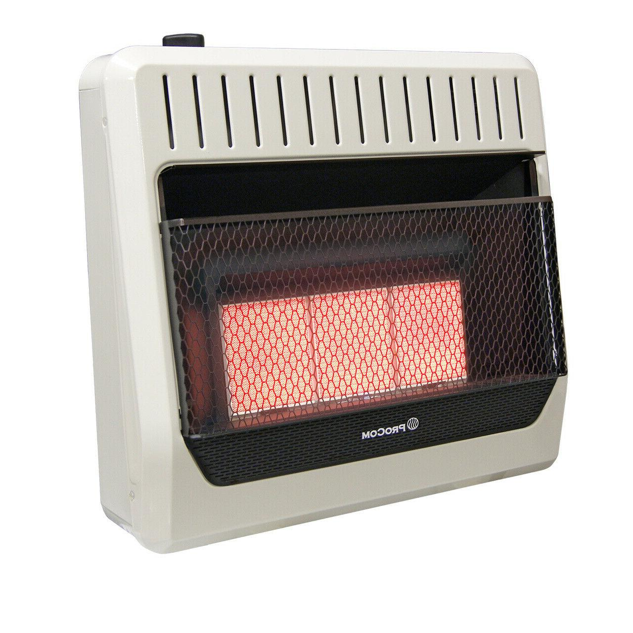 dual fuel vent free infrared gas wall