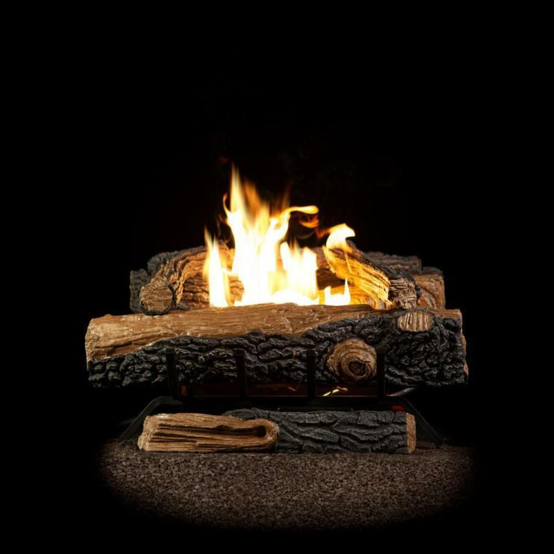 oakwood 24 in home fireplace logs heater