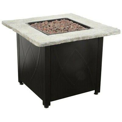 Outdoor Fire Pit Propane Gas 30 Inch Table Fireplace Cover B
