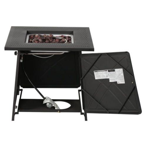 Fireplace Square Table Fire Pit Home Gift