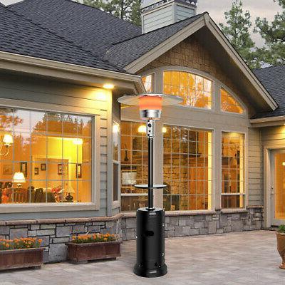 Outdoor Heater Propane Standing Steel W/Table