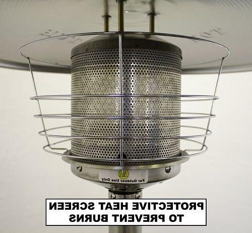 Outdoor-Patio-Heater-Tabletop-Gas-Heat-Lamp-Propane-Pool-Area-Heat-Light-Bronze