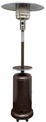 Patio Heater 48,000 BTU Hammered Bronze Gas Fuel Type with A