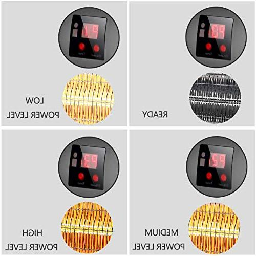 SURJUNY Patio Electric Wall-Mounted Outdoor LCD Display, Heater, 1500W Adjustable 3 Seconds Waterproof Rated, W01