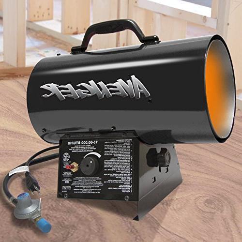 Avenger Portable Air Propane Heater, 60000 Btu
