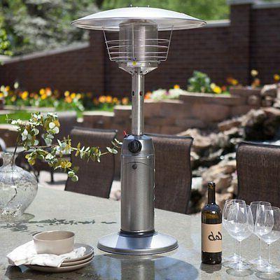 portable gunmetal tabletop heater