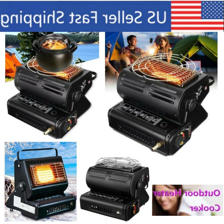 portable tent heater and cooking stove propane
