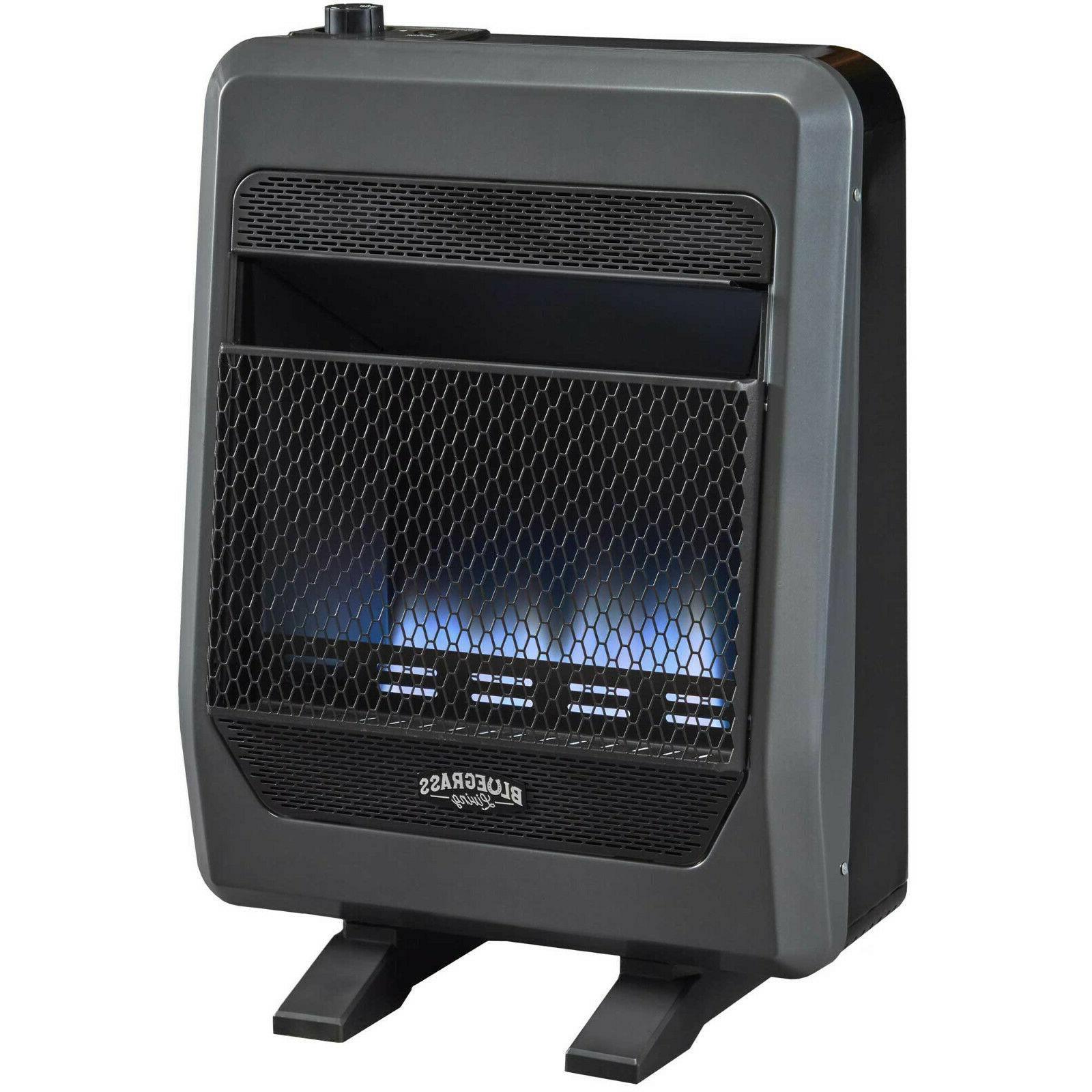 Bluegrass VentFree Blue Flame Heater With Blower Feet