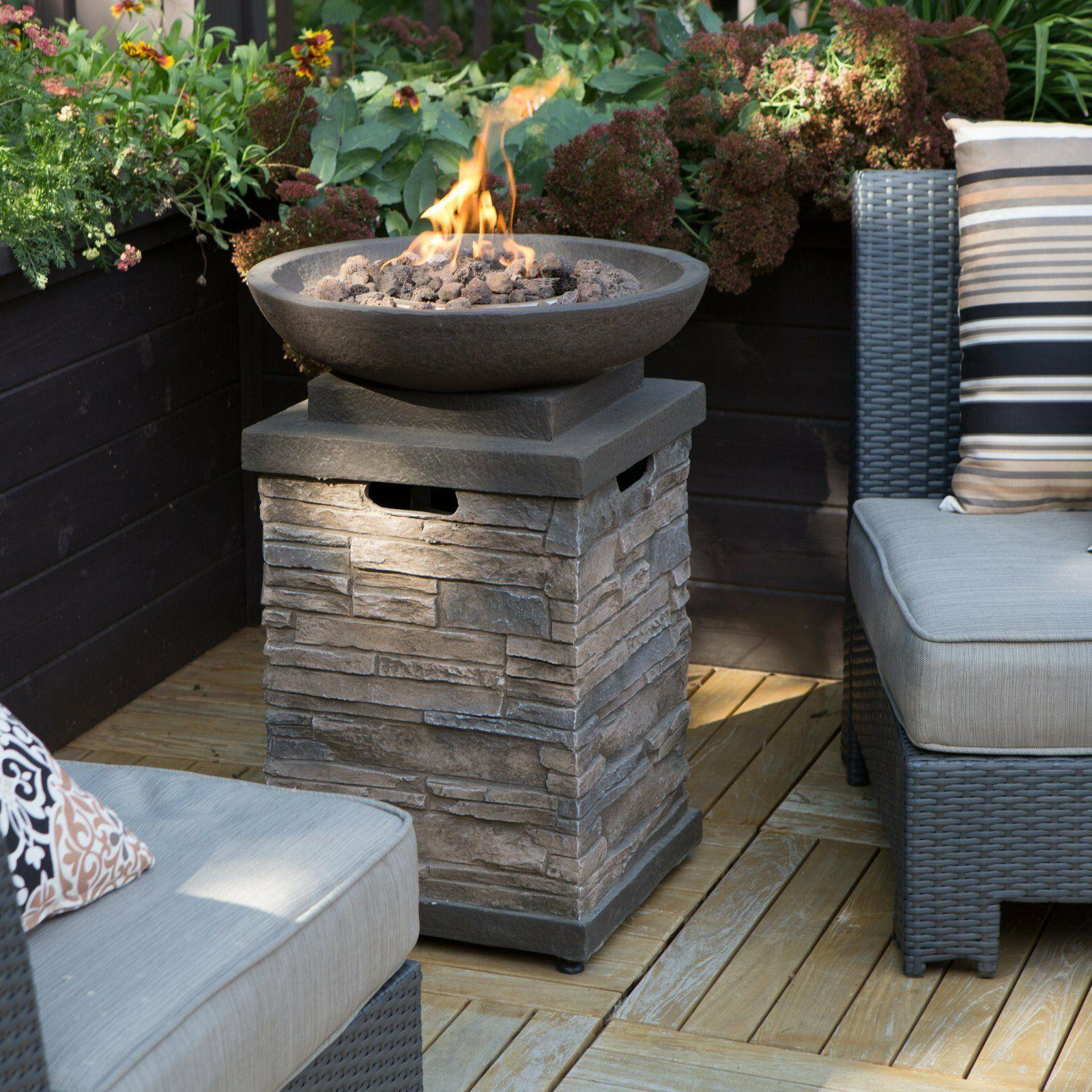 Propane Bowl Pit Control Outdoor Furniture Table