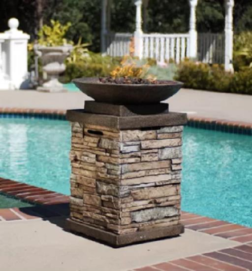 propane heater fire bowl pit control outdoor