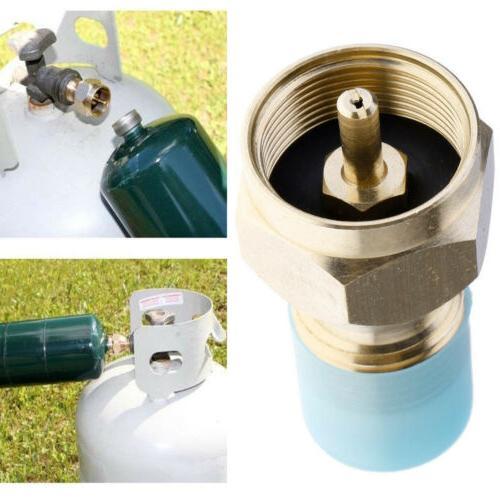 Propane Adapter Gas 1 Tank Coupler Heater Brass