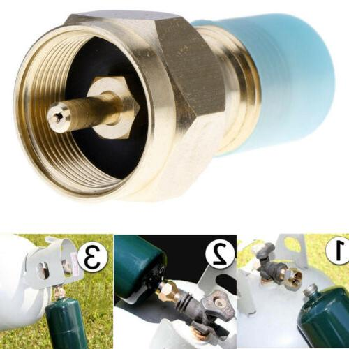 Propane Adapter Gas 1 Tank Coupler Heater 100% Brass SER
