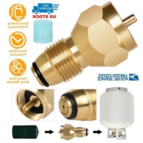 Propane Refill Adapter Lp Gas 1lb Small Cylinder Tank Brass