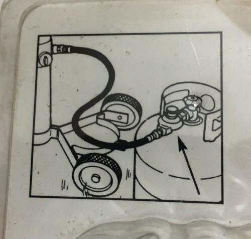 Propane Regulator w/ seal nut. Low pressure bbq,