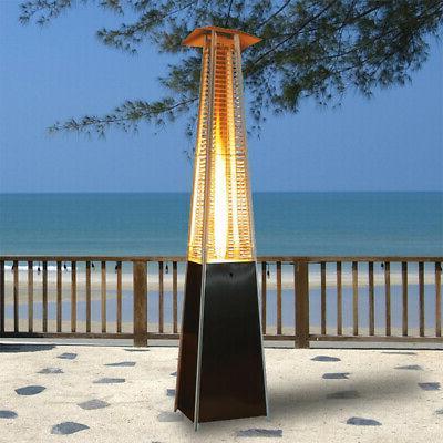 pyramid flame patio heater garden outdoor propane