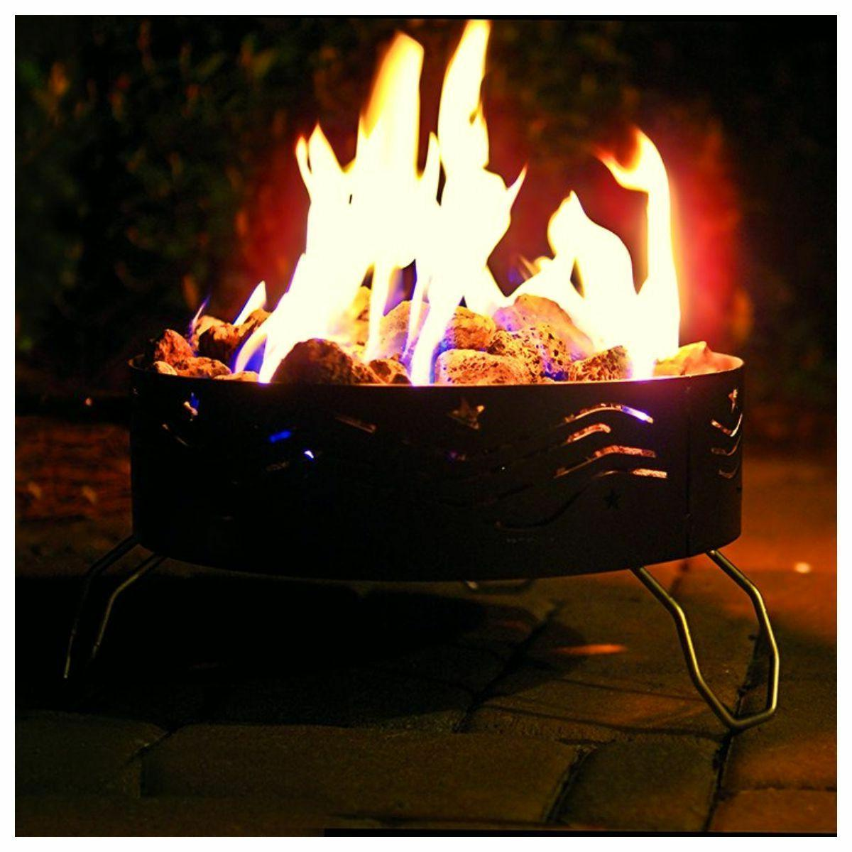 round propane fire pit portable deck patio