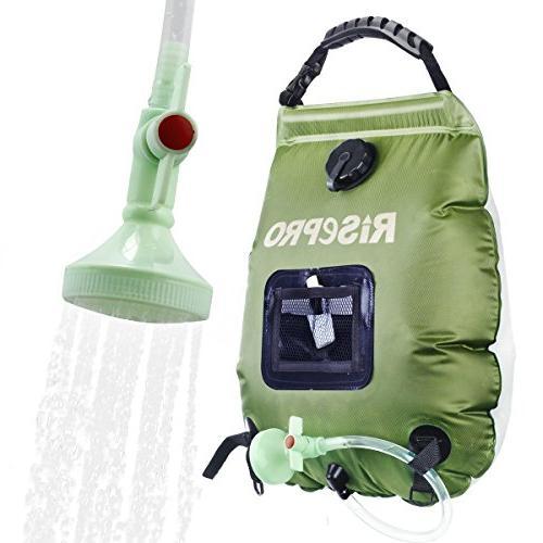 solar shower bag camping portable