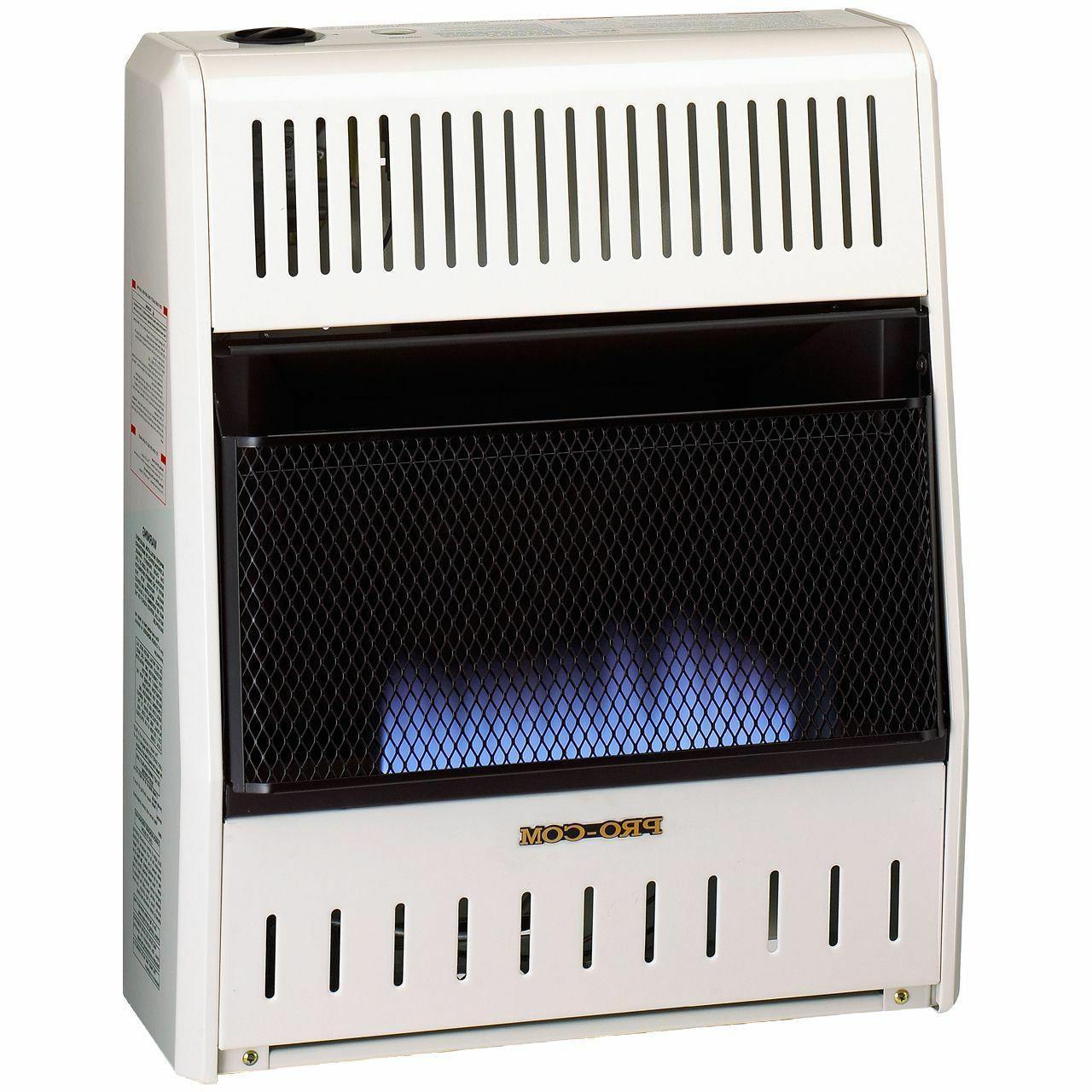 space heater blue flame propane