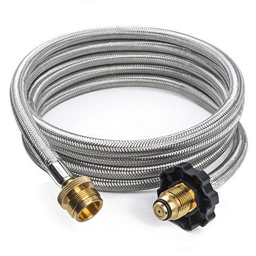 stainless braided propane hose adapter