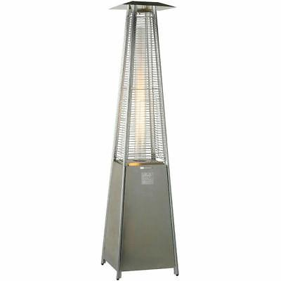 stainless steel mocha pyramid flame patio heater