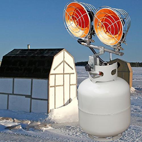 Propane Heater Single Burner, BTU, Model# FBDTP15