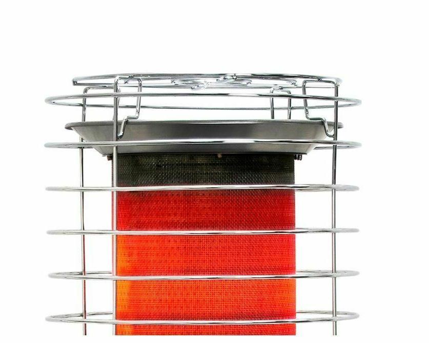 Tank-Top Propane Heater 40,000 LP Type Silver Indoor Outdoor