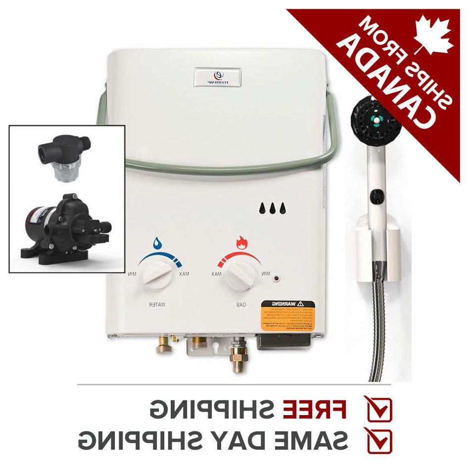 tankless water heater propane portable l5 w
