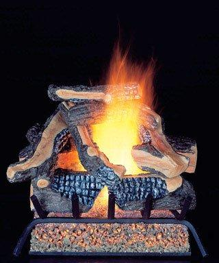 Model WAN24LA 24 in. 55,000 BTU ProCom Vented Natural Gas Fireplace Log Set