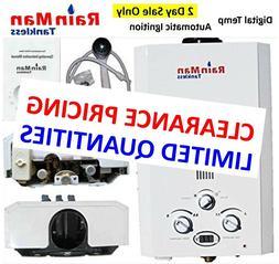 Rain Man L6 Tankless Water Heater LPG Liquid Propane 2.0 GPM