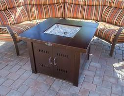 Large Outdoor Fire Pit Table Propane Gas Patio Deck Heater F