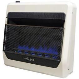 liquid propane gas ventless blue flame gas