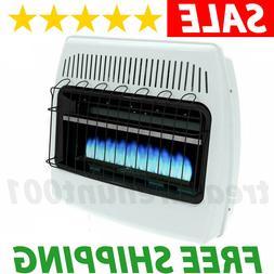 Liquid Propane Gas Wall Heater 30000 BTU Vent Free Thermosta
