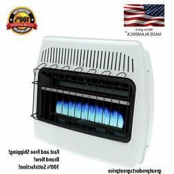 Liquid Propane Gas Wall Heater 30000 BTU Vent Free Blue Flam