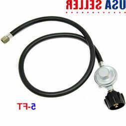 5FT Low Pressure Propane Regulator & Hose for LP Gas Grill,H